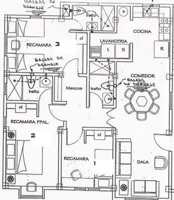 130 rentado plano arquitectonico for Medidas de muebles para planos arquitectonicos